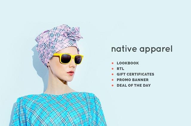 Адаптивный шаблон OpenCart для магазина одежды