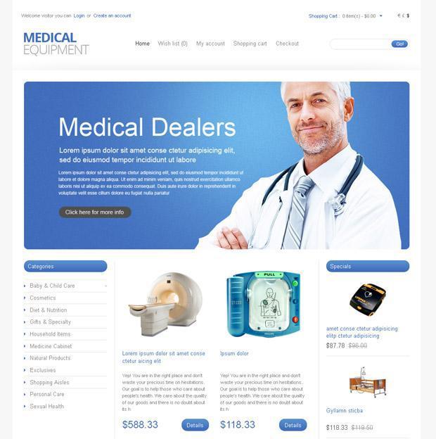 Аптека онлайн на базе OpenCart шаблона