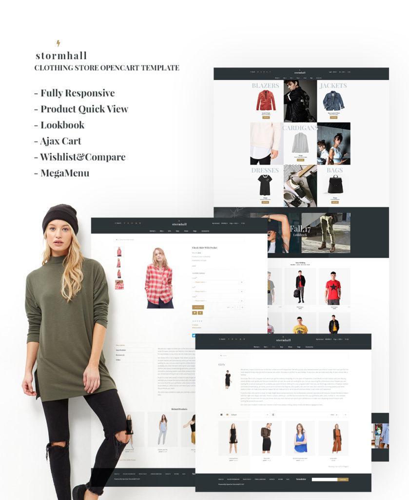 OpenCart дизайн модного магазина