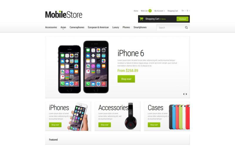 Opencart шаблон для магазина мобильных телефонов