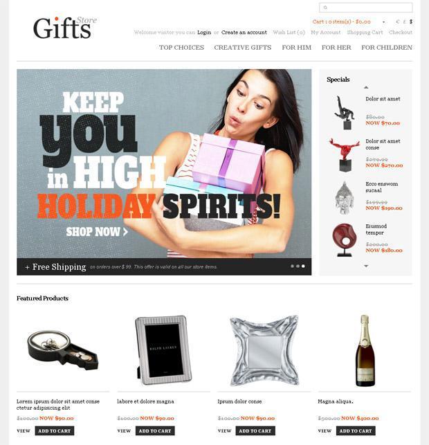 Сайт, где можно приобрести подарки
