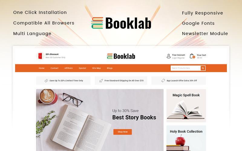 Шаблон для книжного магазина на Opencart