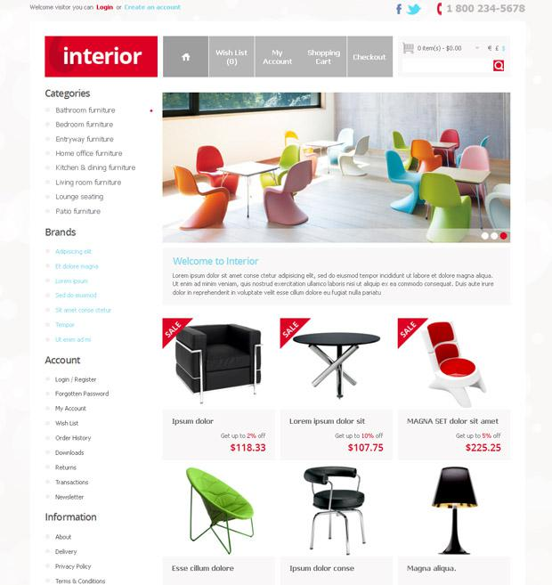 Шаблон магазина мебели