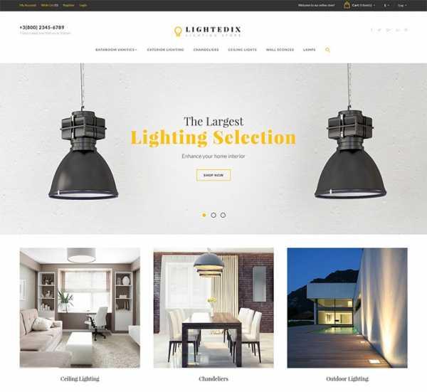 Шаблоны OpenCart для магазина светильников и люстр