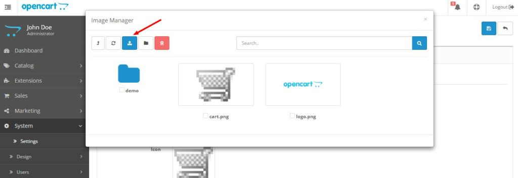 Шаг 1. Как изменить favicon в OpenCart